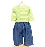 By Astrup / Mini Mommy  Mini Mommy spijkerbroek met gestreept shirt past heel goed op de Miniland poppen van 38 cm