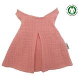 Hollie Jurk voor Gordi poppen van Hollie / kleur oud roze met houten kledinghanger