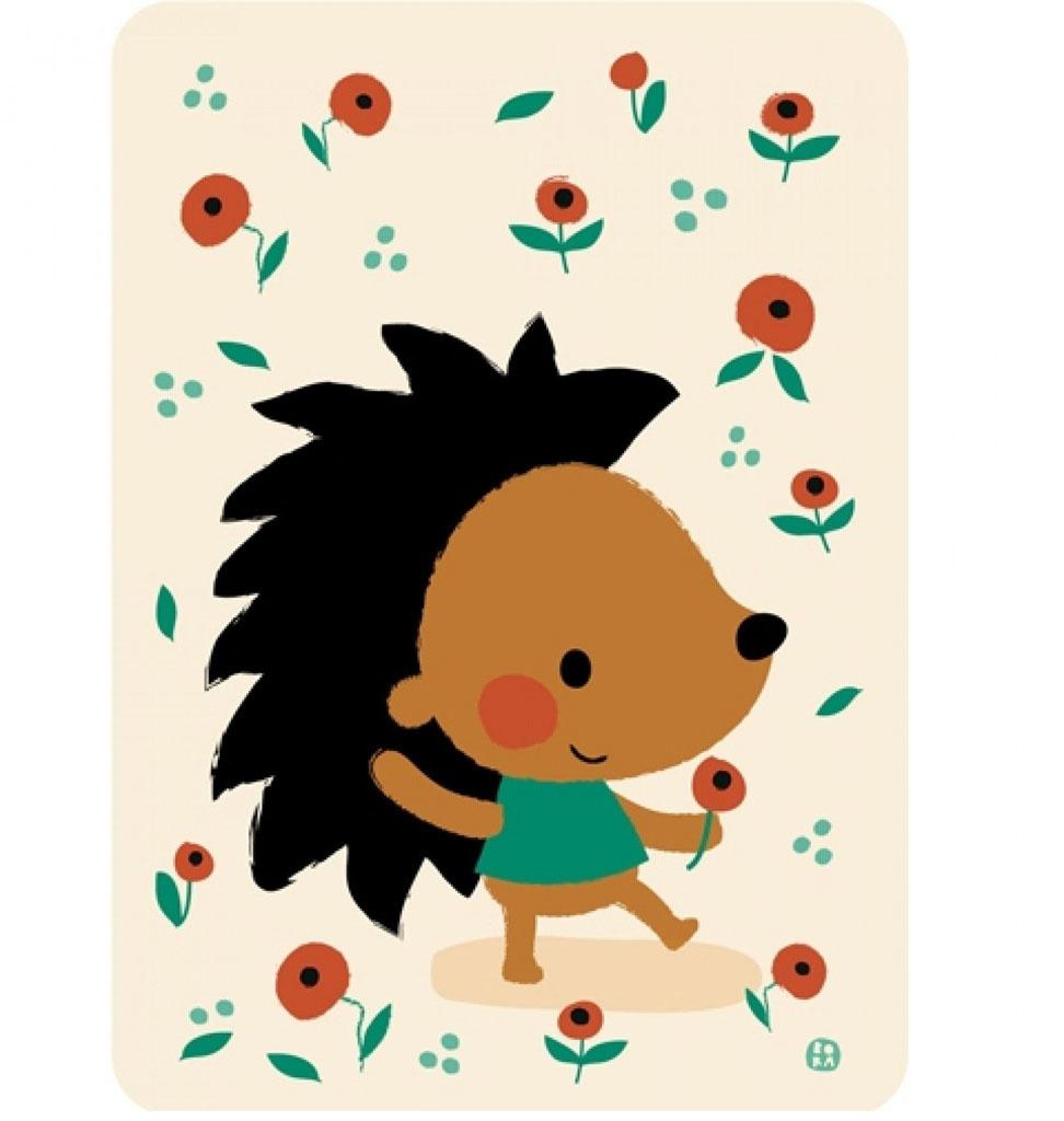 By-Bora By-Bora card hedgehog