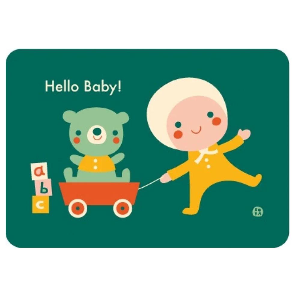 By-Bora By-Bora-Karte Hallo Baby!