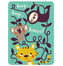 By-Bora By- Bora card Hip Hip Hooray!