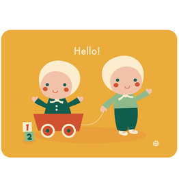 By-Bora By-Bora card twin babies