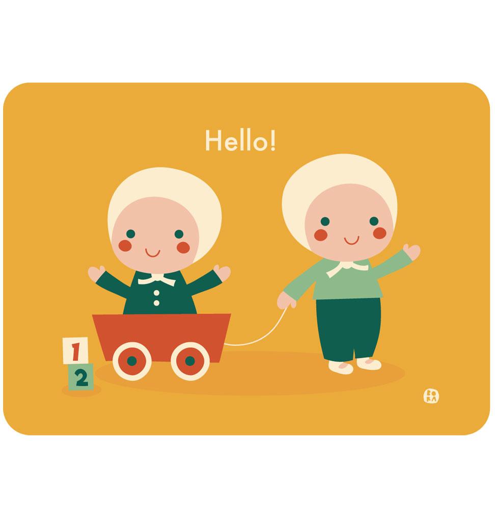 By-Bora By- Bora kaart tweeling baby's