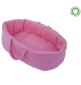 Hollie Hollie poppendraagmand roze voor Gordi poppen