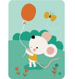 By-Bora By- Bora kaart muis met ballon