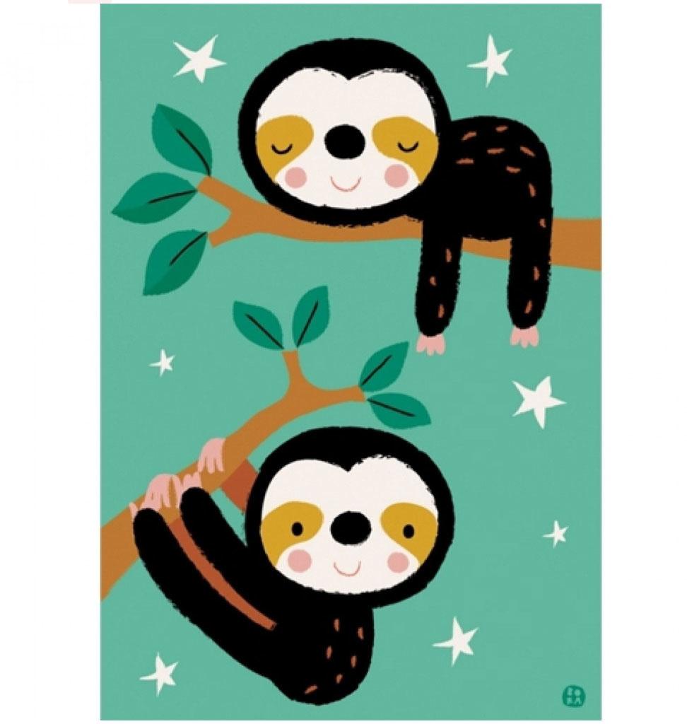 By-Bora By-Bora card sloths