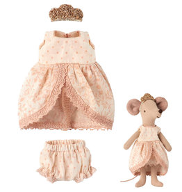 Maileg Maileg micro and mouse prinsessenjurk roze