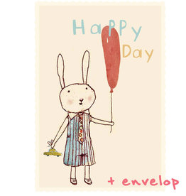 Maileg Maileg kaart Happy day met enveloppe
