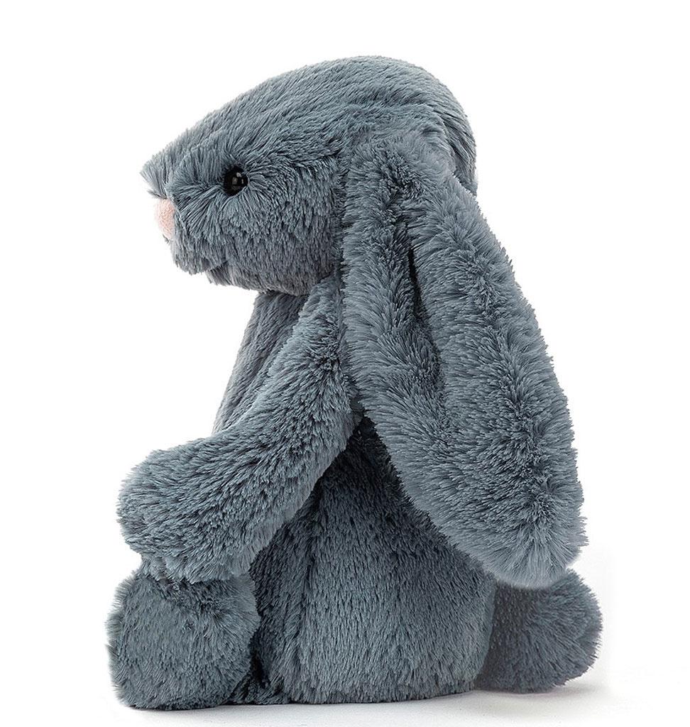 Jellycat knuffels Jellycat medium Bashful Dusky blue konijn