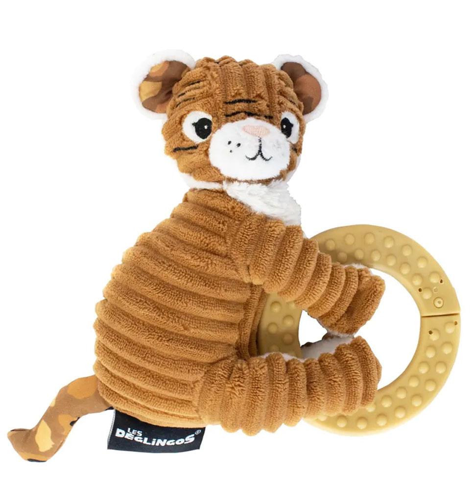 Les Déglingos  Les Déglingos tijger bijtring babyspeeltje