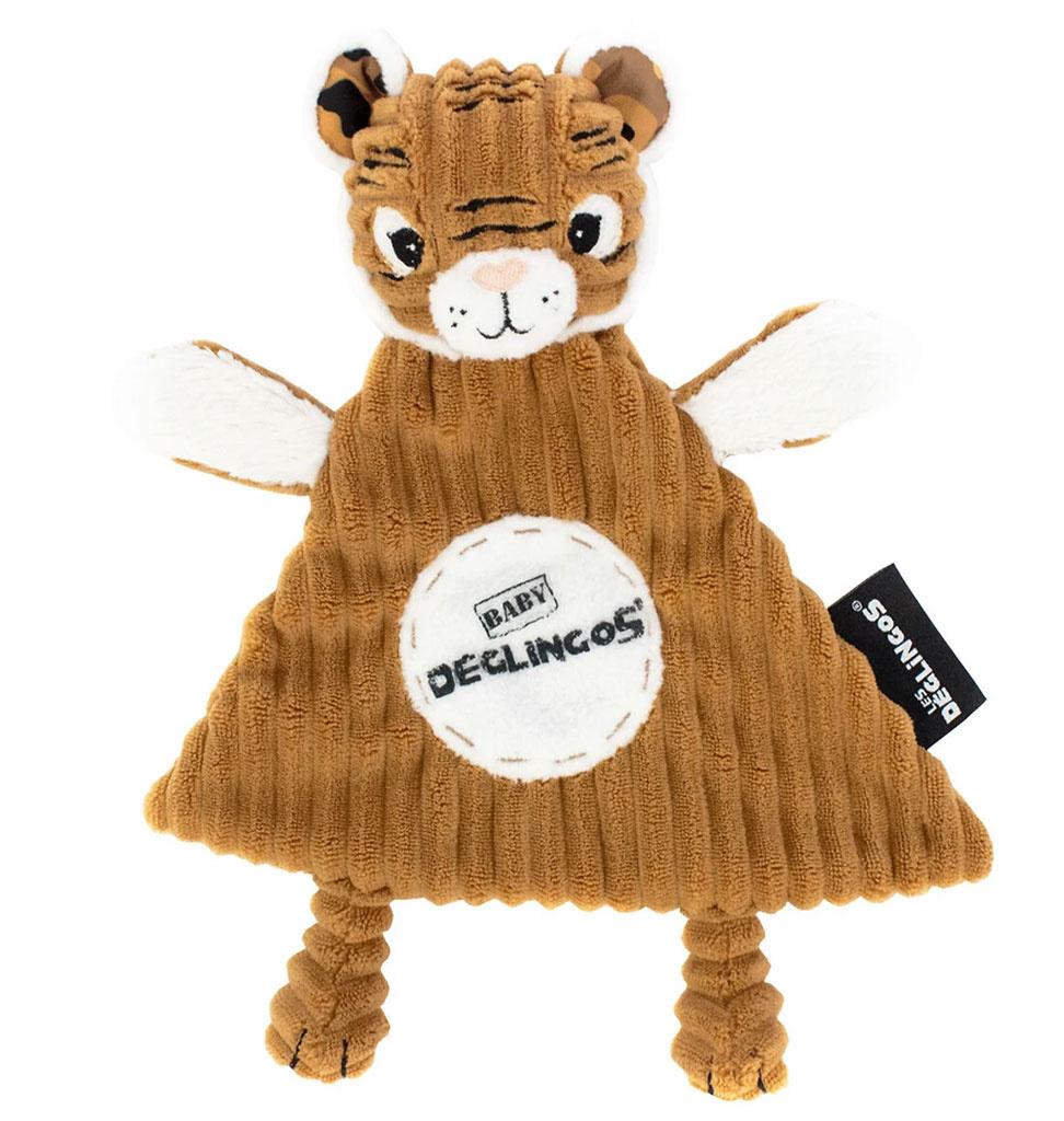 Les Déglingos  Les Déglingos knuffeldoekje tijger