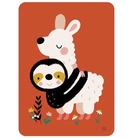 By-Bora By- Bora kaart luiaard alpaca