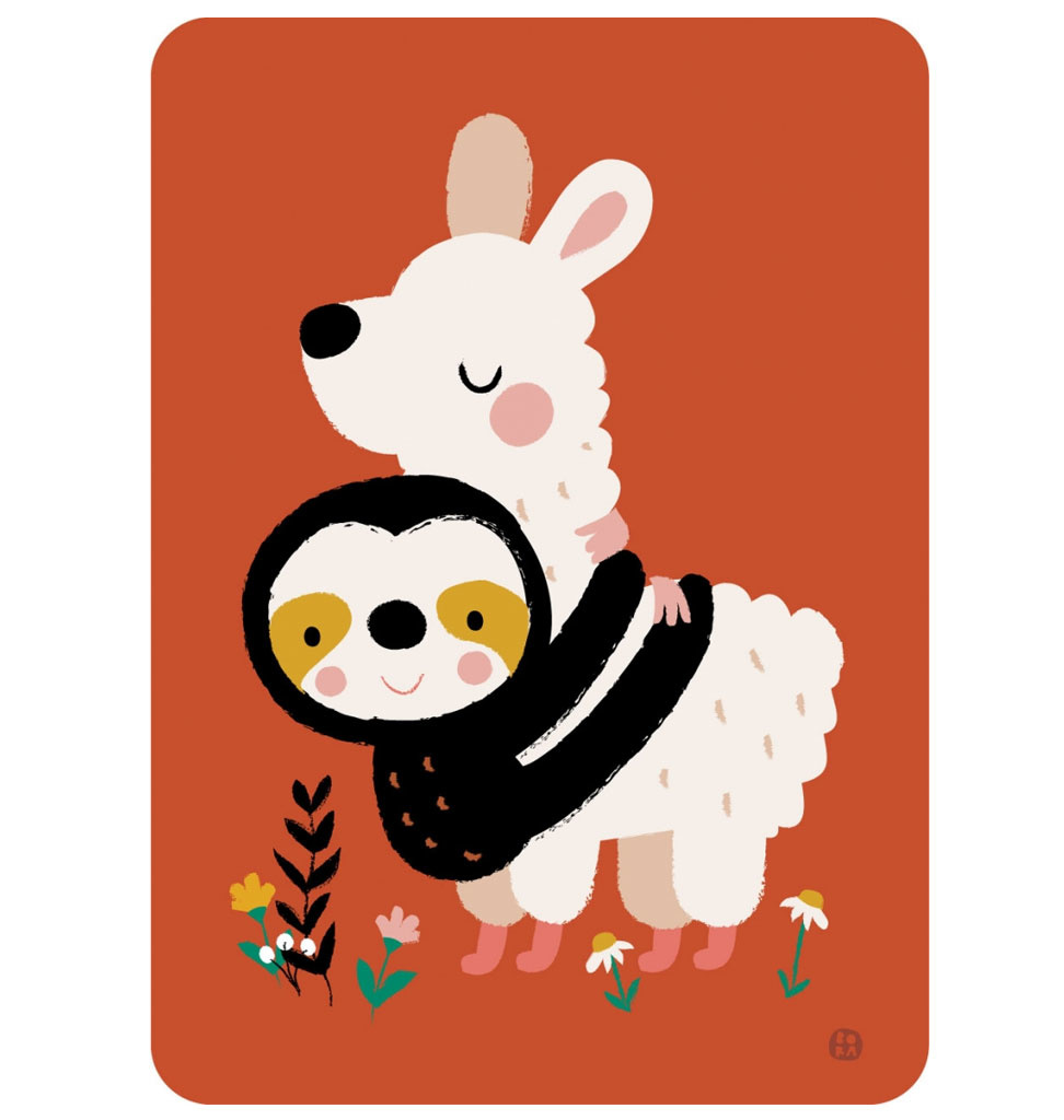 By-Bora By- Bora kaart luiaard alpaca hug!
