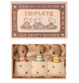Maileg Maileg Triplets baby mice in a matchbox