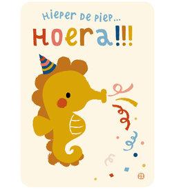 By-Bora By-Bora card seahorse