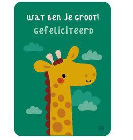 By-Bora By-Bora card giraffe