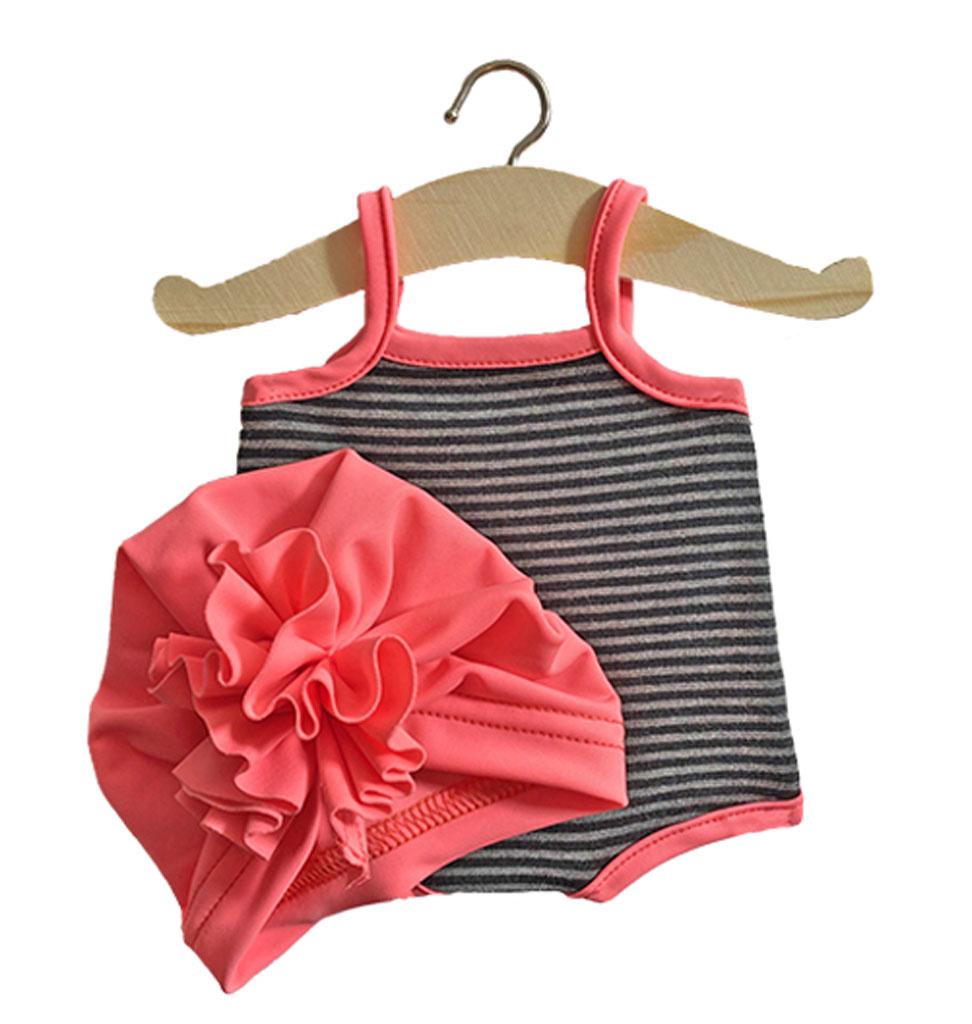 Minikane  Minikane maillot / badpak met badmuts Gilda voor Gordi poppen van Paola Reina