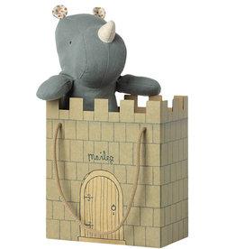 Maileg Maileg kartonnen kasteel tas  mint
