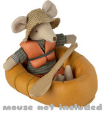 Maileg Maileg rubber boat Dusty yellow for the Maileg mice