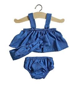 Minikane  Minikane ensemble top Mila design denim with dots for Gordi dolls