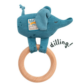 Moulin Roty Moulin Roty rattle and wooden elephant teether