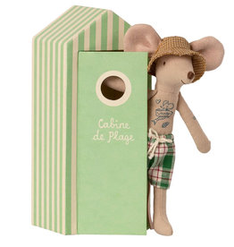 Maileg Maileg beach father mouse with bath cubicle
