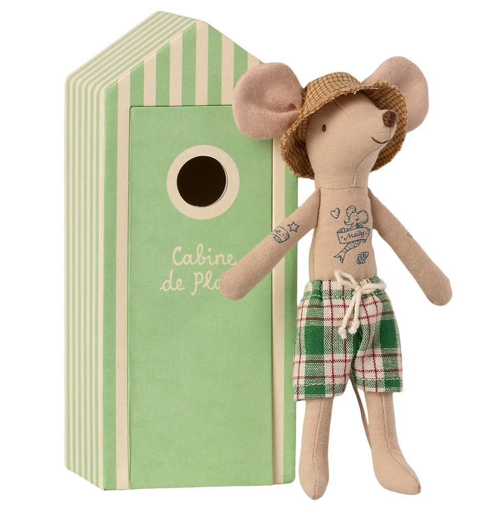 Maileg Maileg beach mouse dad in cabin de plage