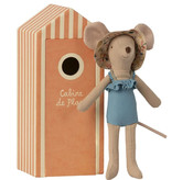 Maileg Maileg beach muis moeder in cabin de plage