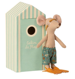 Maileg Maileg beach mouse big brother with beach booth