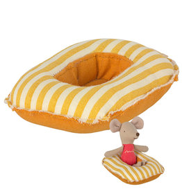 Maileg Maileg rubber boat for the mice - yellow striped