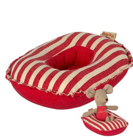Maileg Maileg rubber boat for the mice - red striped