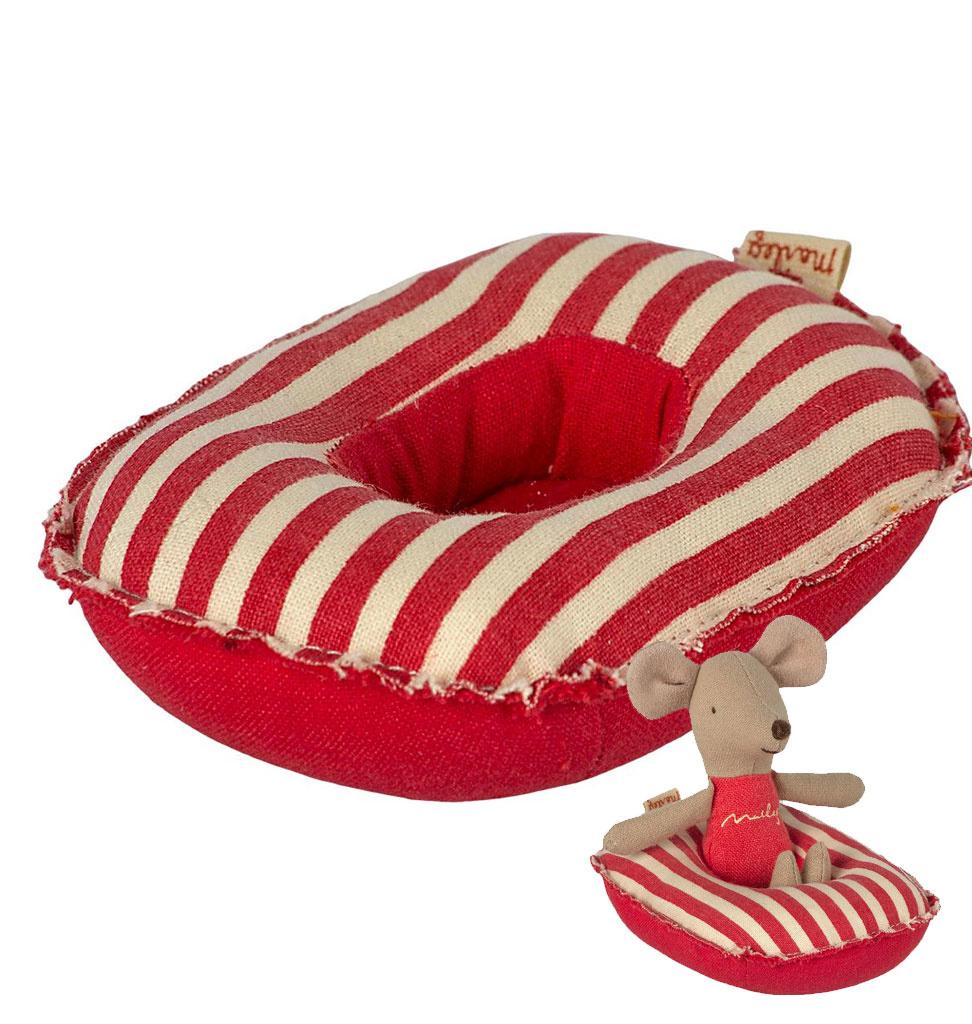Maileg Maileg rubber boot voor de muisjes - rood gestreept