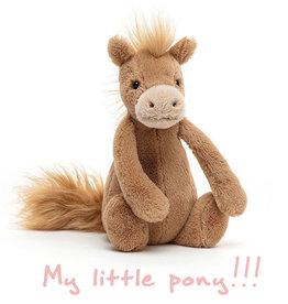 Jellycat knuffels Jellycat Bashful Pony klein