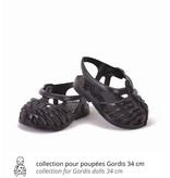 Minikane  Minikane Plastiksandalen für Gordi Puppen schwarz