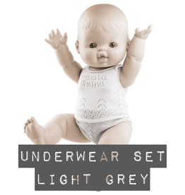 Paola Reina poppen Paola Reina baby Gordi ondergoedset licht grijs