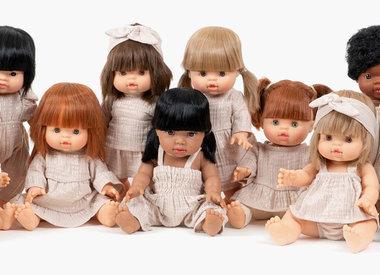 The exclusive Minikane Gordi dolls