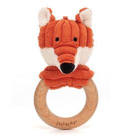 Jellycat knuffels Jellycat Cordy Roy baby fox bijtring en rammelaar