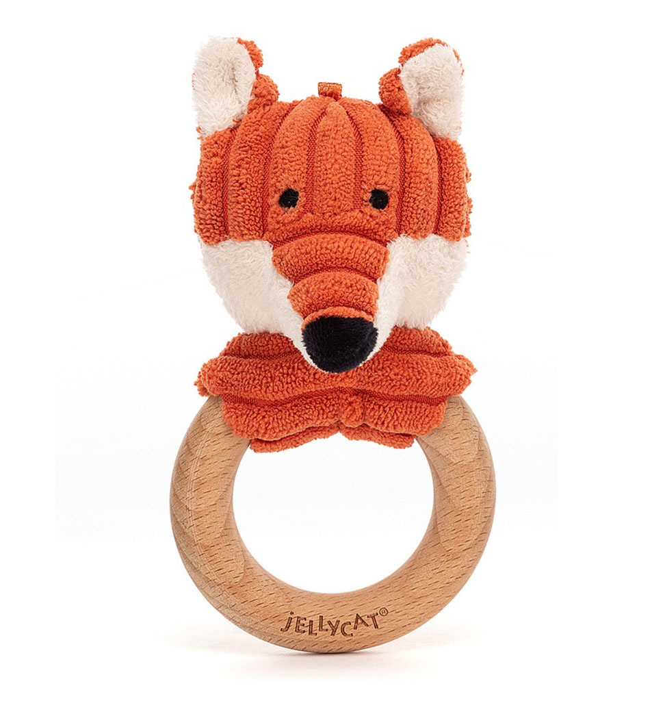 Jellycat knuffels Jellycat Cordy Roy baby fox teether and rattle
