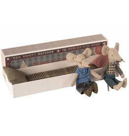 Maileg Maileg grandmother and grandfather mouse in matchbox