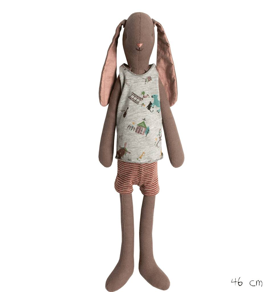 Maileg Konijn jongen medium bruin Maileg 46 cm