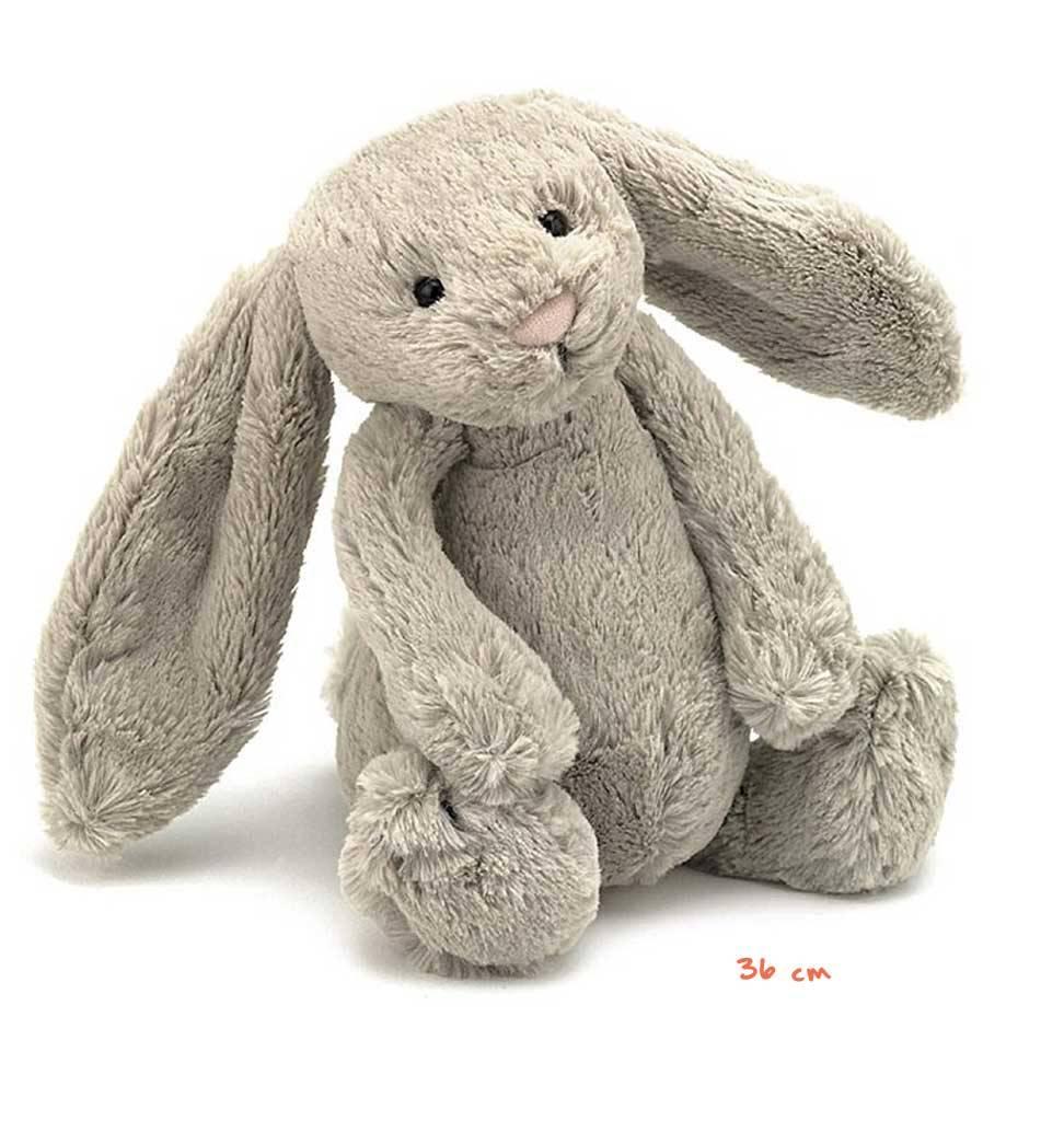 Jellycat knuffels Bashful bunny knuffelkonijn beige large Jellycat 35 cm