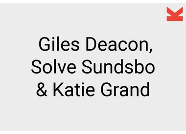 Giles Deacon, Solve Sundsbo and Katie Grand