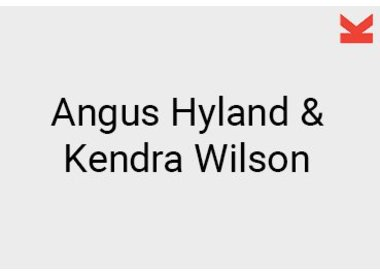 Angus Hyland and Kendra Wilson