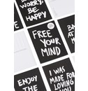 Marcus Kraft Free Your Mind Postcard Block