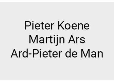 Pieter Koene, Martijn Ars and Ard-Pieter de Man