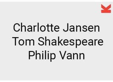 Charlotte Jansen, Tom Shakespeare and Philip Vann