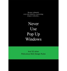 Anneloes van Gaalen Never Use Pop Up Windows