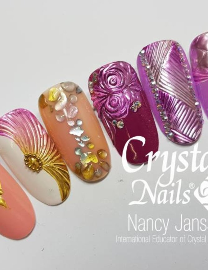 Chrome Design Nailart workshop - nailart workshop met Gellak