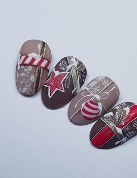 kerst workshop nailart - Christmas Festive Wrapping