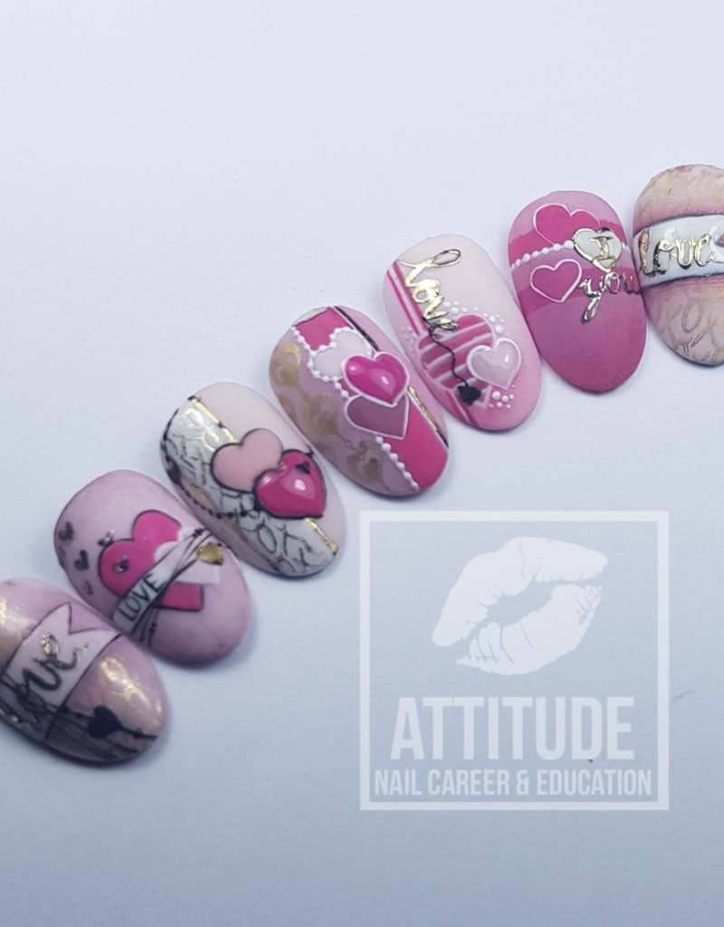 Online Nail art Workshop  by Nancy Janssen | Sweet DIY Valentine